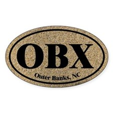 Outer Banks OBX Euro Oval Oval Decal