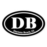 Daytona Beach DB Euro Oval Oval Decal