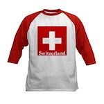 Swiss Cross-2 Kids Baseball Jersey