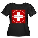 Swiss Cross/Peace Women's Plus Size Scoop Neck Dar