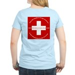 Swiss Cross/Peace Women's Light T-Shirt