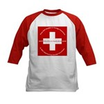 Swiss Cross/Peace Kids Baseball Jersey