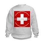 Swiss Cross/Peace Kids Sweatshirt
