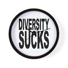 Diversity Sucks Wall Clock