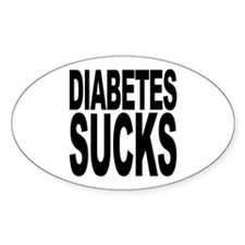 Diabetes Sucks Oval Sticker (10 pk)