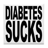 Diabetes Sucks Tile Coaster