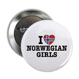 "I Love Norwegian Girls 2.25"" Button"