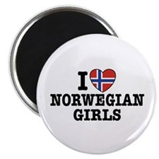I Love Norwegian Girls Magnet