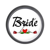 Bride (Roses) Wall Clock