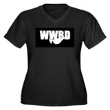 WWBD? Women's Plus Size V-Neck Dark T-Shirt