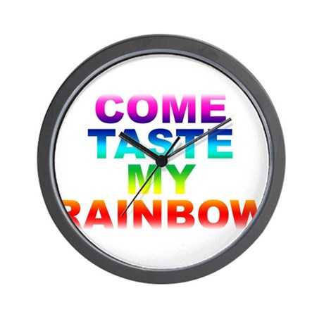 Come Taste My Rainbow Wall Clock