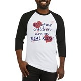 bio, step, adopted all my REAL kids Baseball Jerse