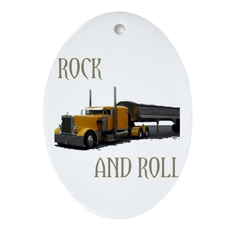 Rock and Roll Oval Ornament