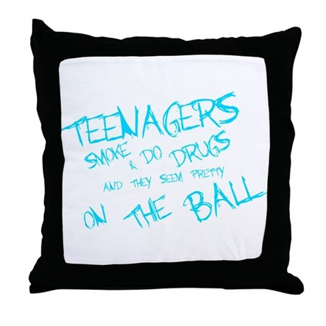 Teenagers are pretty on the ball Throw Pillow