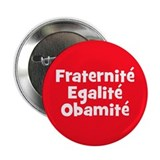 "French Obama campaign button 2.25"" Button"