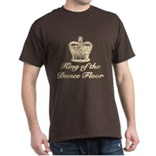 King of the Dance Floor Crown Brown T shirt