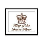 King of the Dance Floor Framed Panel Print