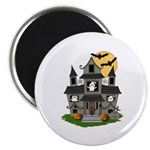 Halloween Haunted House Ghosts Magnet