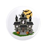 "Halloween Haunted House Ghosts 3.5"" Button (1"