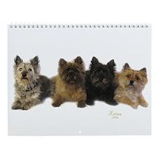 Cairn Terrier Friends Wall Calendar