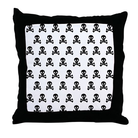 Emo Skulls Throw Pillow