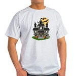 Halloween Haunted House Ghosts Light T-Shirt