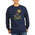 Halloween Haunted House Ghosts Long Sleeve Dark T-