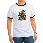 Halloween Haunted House Ghosts Ringer T