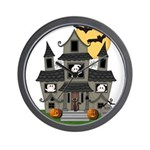 Halloween Haunted House Ghosts Wall Clock