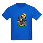 Halloween Haunted House Ghosts Kids Dark T-Shirt