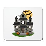 Halloween Haunted House Ghosts Mousepad