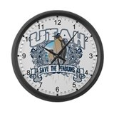 Save the Penguin Utah Large Wall Clock