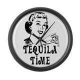 Tequila Time Large Wall Clock