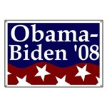 Patriotic Obama-Biden '08 Banner