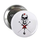 "Evil Nurse Skull 2.25"" Button"