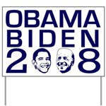 Two Heads Obama Biden 2008 Yard Sign