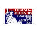 Statue of Liberty Obama-Biden Banner