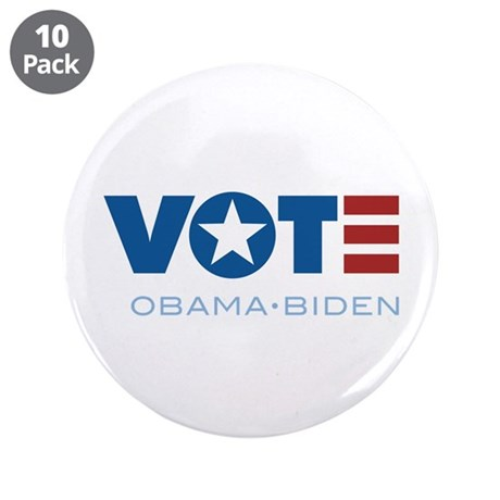 "VOTE Obama Biden 3.5"" Button (10 pack)"