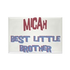Micah - Best Little Brother Rectangle Magnet