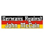 Germans Against McCain bumper sticker