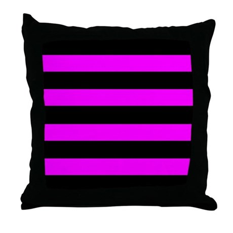 Emo Stripes Throw Pillow