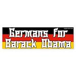 Germans for Obama bumper sticker