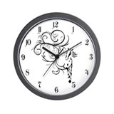 Horse Flourish Wall Clock