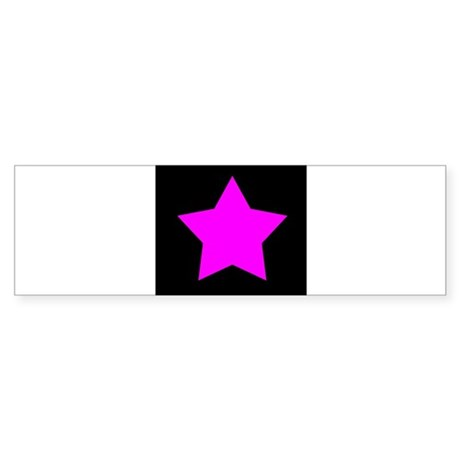 Black Emo Star Bumper Sticker