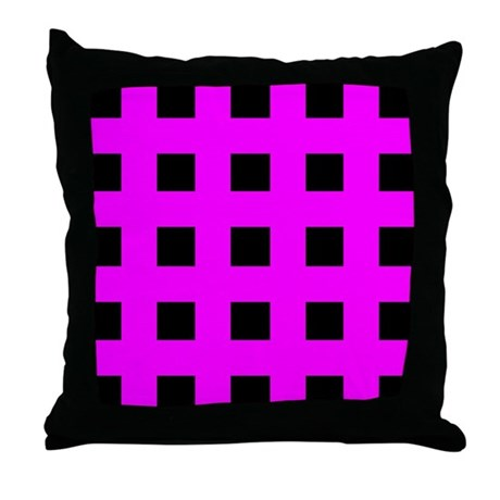 Emo Pink Crosses Throw Pillow