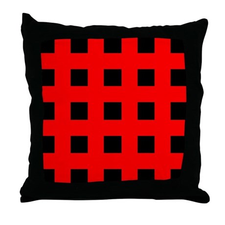 Emo Red Crosses Throw Pillow