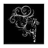 Horse Flourish Tile Coaster