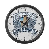 Save the Penguin Tennessee Large Wall Clock