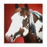 paint horse Tile Coaster