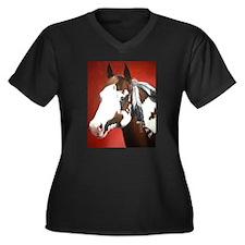 paint horse Women's Plus Size V-Neck Dark T-Shirt